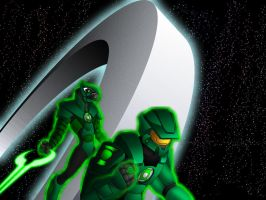 Halo + Green Lantern by What-the-Gaff