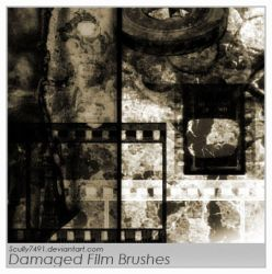 Damaged Film Brushes by Scully7491