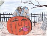 Ulysses Feral vs Giant Pumpkin by ulyferal