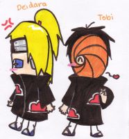 Tobi and Deidara :D by NarutoFan1411