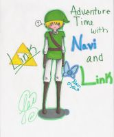 Adventure time with link and navi by cocoahime