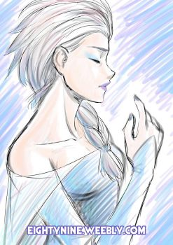 Elsa - Very Quick Sketch by LexyMako