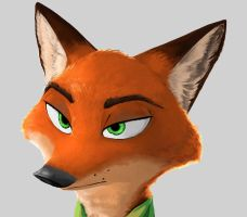 NickWilde_Study by TheWyvernsWeaver