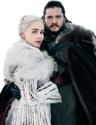 Jon Snow and Daenerys Targaryen-GoT PNG by nickelbackloverxoxox