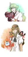 Pokemon doodles by LivinLifeInaTrashcan