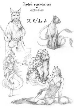 Sketch commissions - opening tonight at 9pm GMT+1 by PanHesekielShiroi