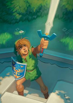 Zelda - A Link to the Past by AlexandreLeoniART