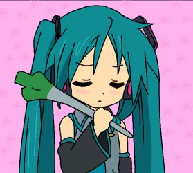 kagami in hatsune miku cosplay by L-stronger