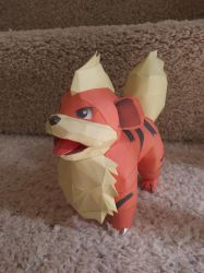 Growlithe papercraft by Amber2002161
