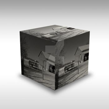 Farm CUBE a Black and White Image by nomisdice