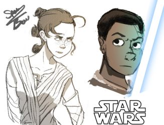 Star Wars Sketches by Spencer-Bowen