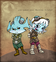 LoL Rumble and Tristana by TheFreakyPanda