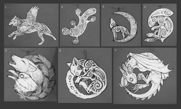Sketches for pendants II by hontor