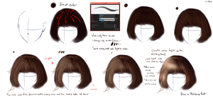 EASY Realistic hair tutorial by ryky