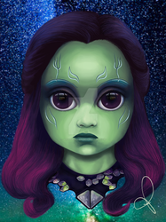 Gamora - Guardians of the Galaxy (BITTY BADDIES) by jodyparmann