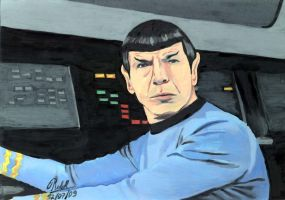 Spock in the Enterprise by Ralphmax