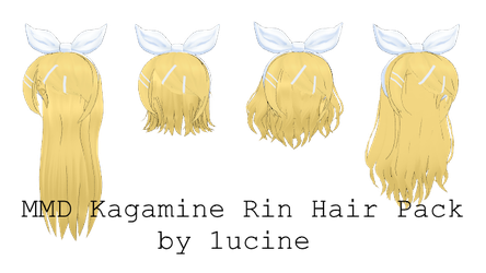 MMD Kagamine Rin Hair Pack by 1ucine