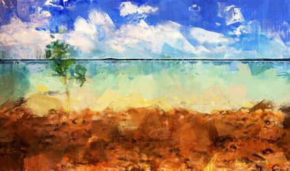 Darwin Harbour after the storm by Cr8ivDigitalPainting