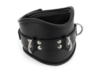Black Posture Collar Trimmed by Me-Se