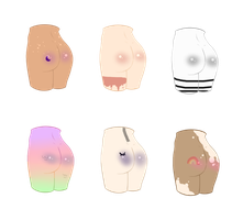Mystery butt adopts- halloween edition! (OPEN) by Pacify--Her