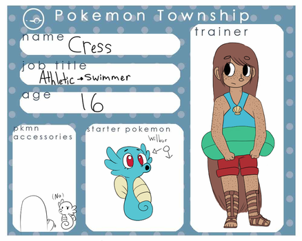 Pokemon Township - Cress by Fairy-Pumpkin-Fox