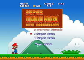 Super Mario Bros. - Title Screen Remaster by BrisbyBraveheart
