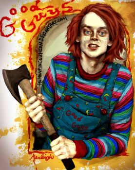 Brad Dourif / Chucky by HumanPinCushion