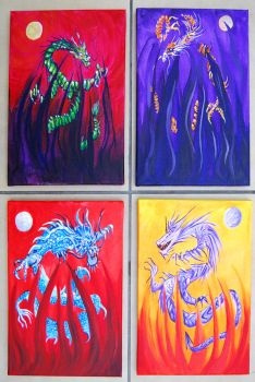 Four Dragons by mr-macd