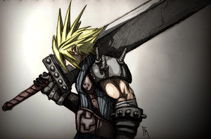 Cloud Strife by Tentionmaru