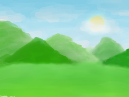 Mountainous Morning Scene by FlameRat-YehLon