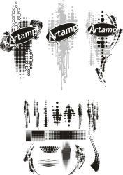 Abstract Halftones Pack by artamp