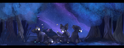 [Wyngro] Night in the Forest by PippinDraws