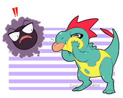 Pokemon:: Gastly Croconaw by CookieHana