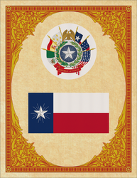 Seal and Flag of Texas by ThaDrummer
