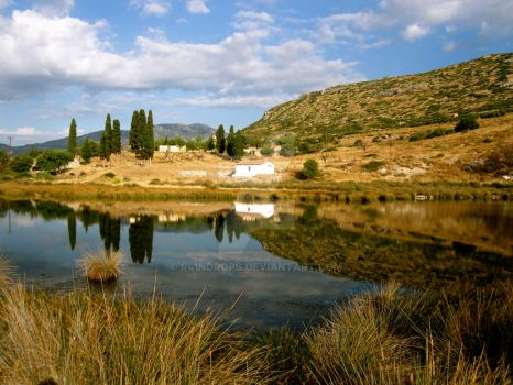 Glyfada Lake in Samos by r41ndrops