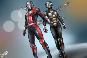 Antman  The Wasp by dart690