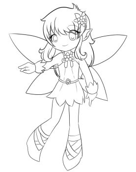 Magic Fairy - Line Art by MichisGraphics