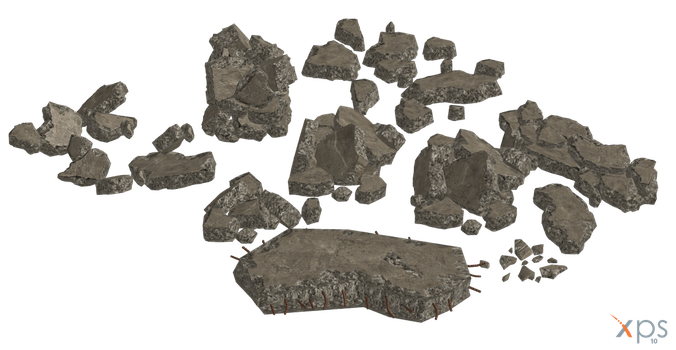 10 ME3 Rubble Pieces for XPS by Just-Jasper