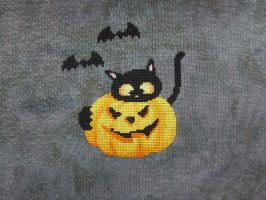Bats, Kitteh and Pumpkin by Mattsma