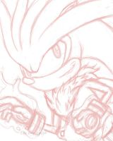 Silver the Hedgehog Rough by JellySoupStudios