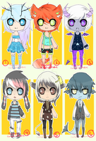 Set Price Adopts - Collab with Curled-Mustache! by flarechess