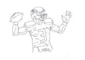 Russell wilson drawing by electronicdave