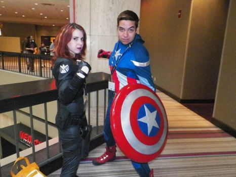 Natasha and  CAPTAIN AMERICA by nos22