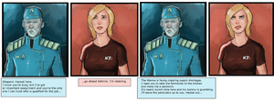 Admiral Hacket makes Shepard do everything. by clc1997
