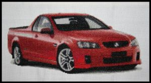 Completed Ute Cross Stitch by JodyS