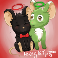 Pretty et Mirgina by Mogueta