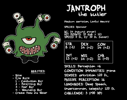 The Eldritch Manor: Jantroph by Zal001