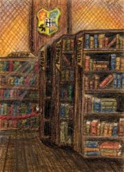 112 - ACEO / KAKAO - Hogwarts Library by malloth86