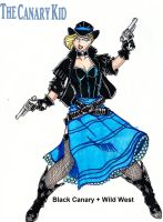 Black Canary + Old West by RODMAN75