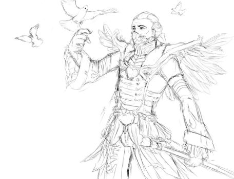 Stoned skin idea. Heartseeker Swain by Shuasu